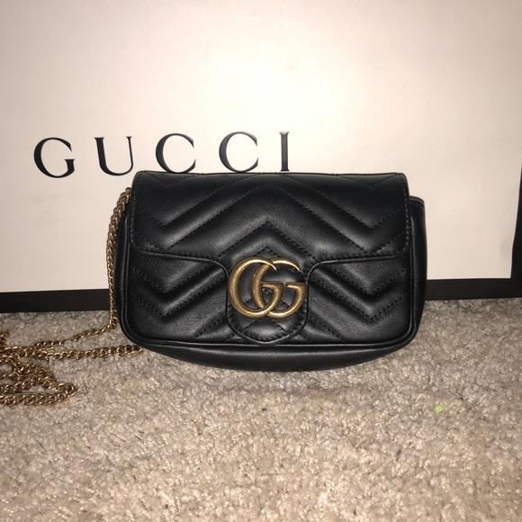 409cfb9858991b Gucci Handbags - Gucci Marmont Matelassé Leather Super Mini Bag